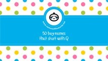 50 boy names that start with Q - the best baby names - www.namesoftheworld.net