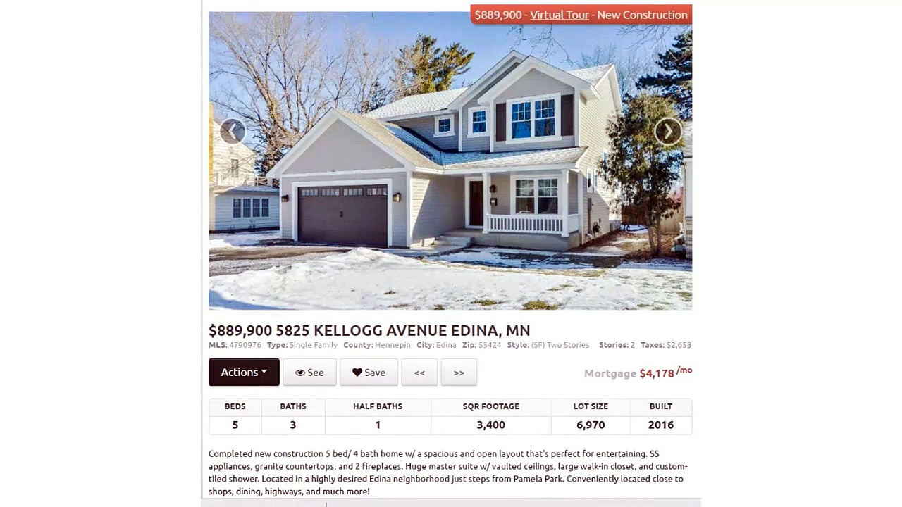 Lennar homes opportunities in Edina
