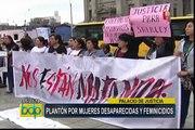 Realizan plantón frente a Palacio de Justicia por mujeres desaparecidas y feminicidios