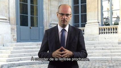 Jean-Michel Blanquer adresse ses félicitations aux lauréats des concours de l'enseignement