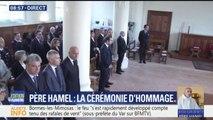 Hommage au père Hamel: Emmanuel Macron est arrivé à l'église de Saint-Etienne-du-Rouvray