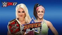 WWE 2K17 Bayley Vs Alexa Bliss WWE Raw Womens Championship WWE Summerslam 2017