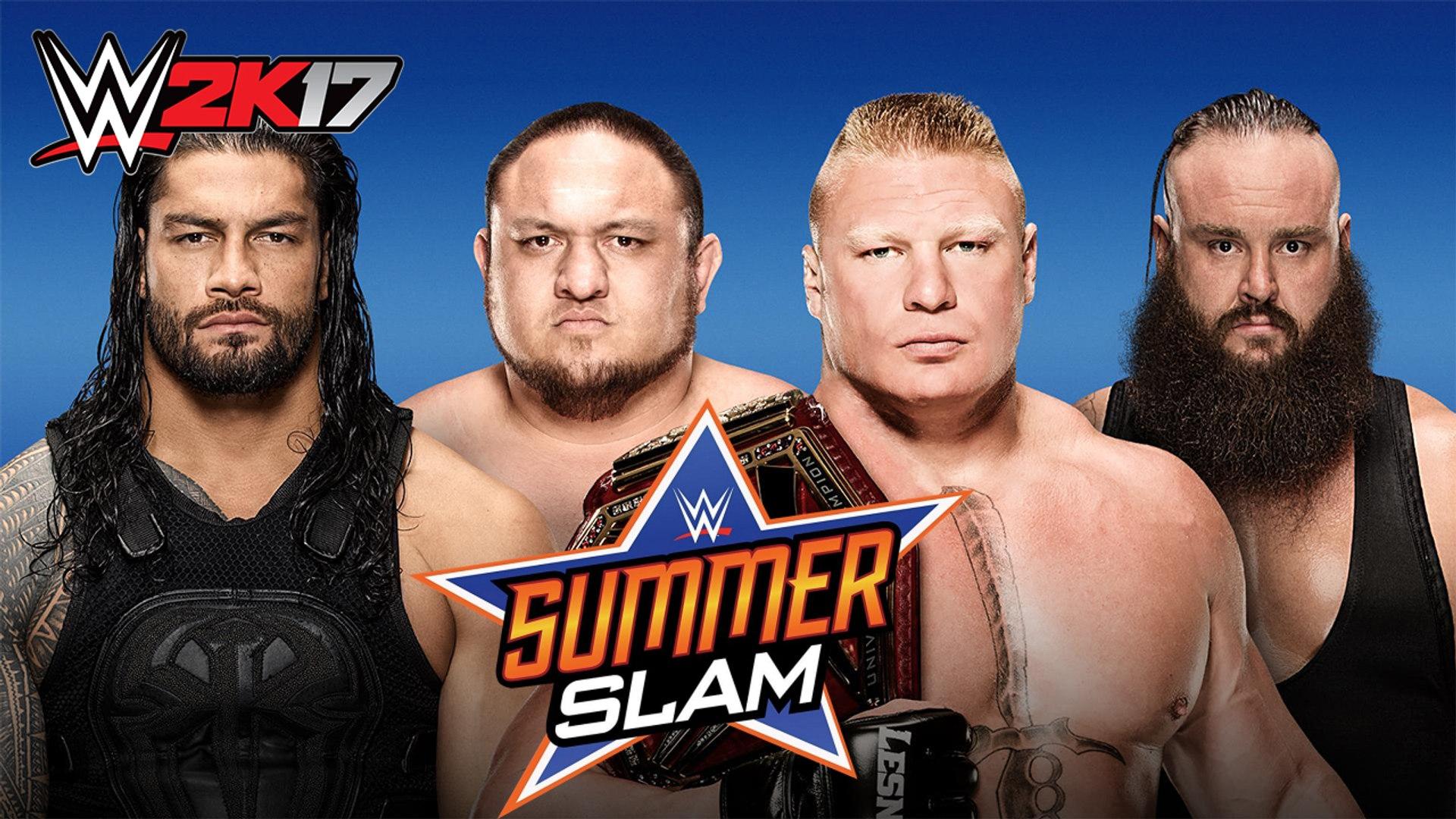 WWE 2K17 WWE Universal Championship Fatal 4 Way Match WWE Summerslam 2017