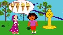 Masha and Dora eat Ice cream with the Pj Mask ♥ #Pj Masks #Funny Story #Rainbow Rhymes