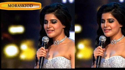 Samantha hot showing in Award Function