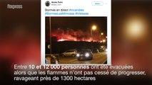 Incendies dans le Var: 10 000 personnes évacuées près de Bormes-les-Mimosas