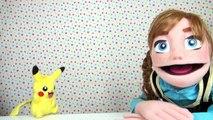 Petite Anna Princesse de la Reine des neiges Et Pikachu Malade | Histoires de jouets pour
