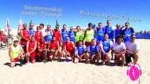 (Beach Rugby) Match de gala entre l'équipe d'O'Connor et la patrouille de France