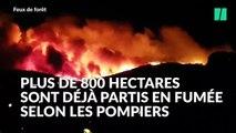 Les impressionnantes images du nouvel incendie près de Bormes Les Mimosas