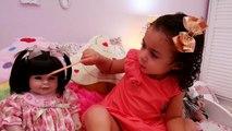 Vivant etun bébé n / A comilona alice plage Motinha jeu toytoysbrasil poupée