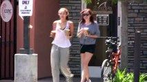 Miley Cyrus And Sister Brandi Get Refueled At Coffee Bean [2010]