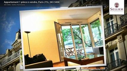 Appartement 1 pièce à vendre, Paris (75), 383 500€