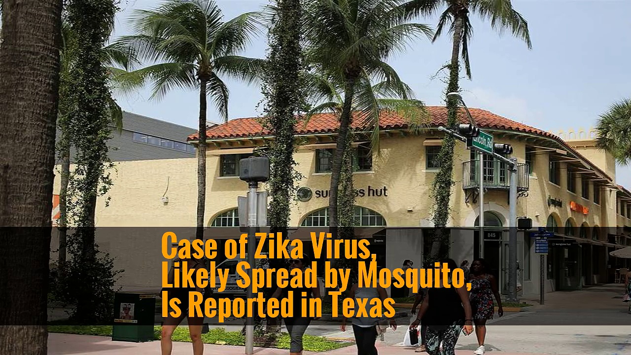 Case of Zika Virus, Likely Spread by Mosquito, Is Reported in Texas
