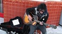 Incroyable chaque fille guitare heure dans fait du en jouant gare métro Dans le $ 40.00 fille jeu
