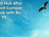 LB1 High Performance New USB 30 Hub 4Port Super Speed Compact USB 30 Hub with Builtin