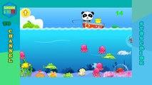 Baby Panda Happy Fishing - Learn Sea Animal Names - Baby Panda Fun Kids Game Video