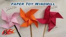 Bricolage Comment à faire papier jouet Moulin à vent facile artisanat pour enfants lettres