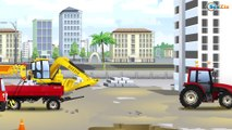 Excavator builds House with The Truck | Kids Construction Vehicles - Cars & Trucks Cartoon