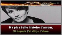 Barbara - Ma plus belle histoire d'amour KARAOKE / INSTRUMENTAL