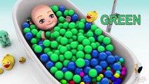 Bebé baño Niños colores colores muñeca para Niños Aprender aprendizaje jugar enseñar tiempo |