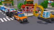 Colors Cars Transportation - Monster Truck Fire Truck Garbage Truck Tow Truck Cars & Truck Stories