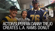 Actor/Superfan Danny Trejo Creates L.A. Rams Donut