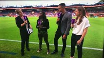 Jermaine Jenas Get Hit By Sprinkler While Doing An Interview For England W Match!