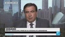 """Mikheil Saakachvili : la décision de retirer ma nationalité a été prise pour se débarasser de moi"""""""