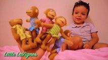 Lit les couleurs la famille doigt cinq sauteur petit singes garderie sur rimes homme araignée le le le le la Colle
