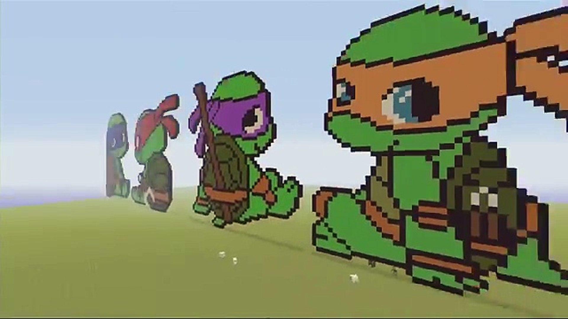 Teenage Mutant Ninja Turtles Tmnt Minecraft Pixel Art