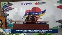 DSWD Sec. Taguiwalo, nagbigay ng ulat ukol sa mga nakamit ng ahensya