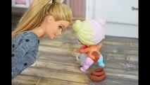 LOL Surprise Dolls Poop On The Floor When Barbie Babysits! - Barbie Videos