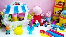 Et crème papa pour obtient de la glace dans enfants parc porc jouer coincé le le le le la jouets Tunnel peppa doh
