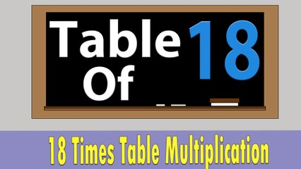 18 Times Table Multiplication | Learn 18x Table | Learn Eighteen Multiplication Tables For Kids