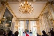 Déclaration conjointe d'Emmanuel Macron et du premier ministre portugais António Costa