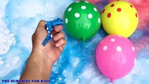 Ballon des ballons les couleurs couleurs visage la famille doigt Apprendre garderie rimes eau humide 5 comp