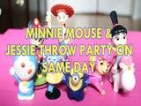 MINNIE MOUSE & JESSIE THROW PARTY ON SAME DAY DORAEMON BENNY MINION SKYE AGNES GRU DESPICABLE ME 3 Toys BABY Videos, MIC