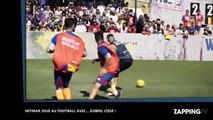 Neymar dispute un match de football avec... Djibril Cissé (vidéo)