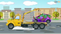 The Big Truck & The Excavator - Construction Vehicles Kids Cartoon - Fun Cars for children