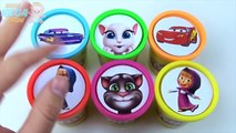 Сups Stacking Toys Play Doh Clay Talking Tom Cars McQueen Masha Paw Patrol LEAR