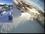 Christian Michael Mares caught in avalanche 2016. Go Pro and iPhone angle