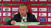Réaction de Jean-Marc Furlan et Jean-Luc Vasseur après Stade Brestois 29 - Berrichonne Châteauroux