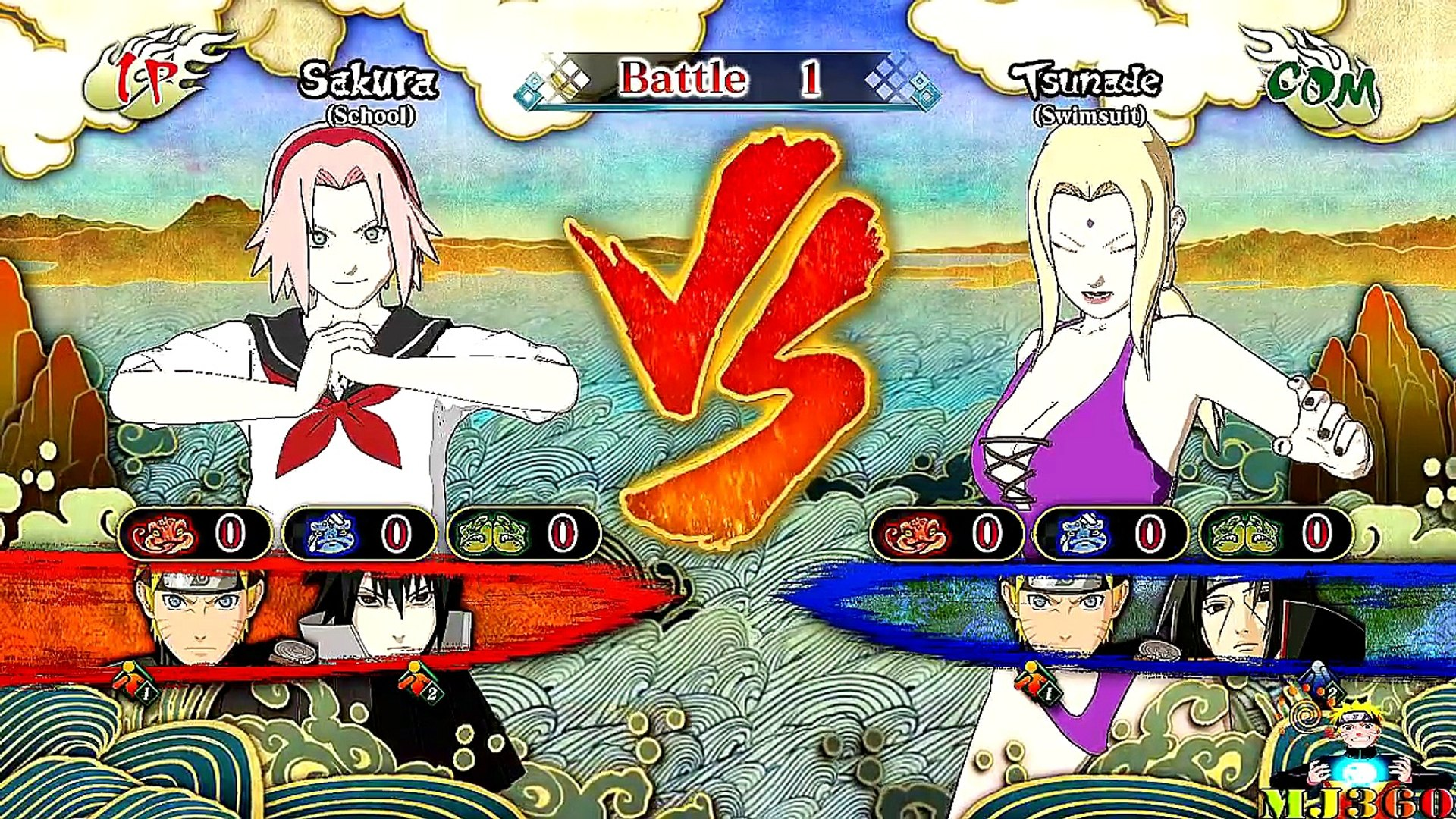 Fille école orage ultime contre Naruto shippuden ninja 3 dlc sakura naruto goku gameplay