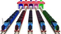 Les couleurs couleurs pour enfants Apprendre apprentissage à Il Entrainer Véhicules vidéos avec Thomas 3d |