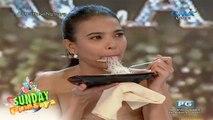 Sunday PinaSaya: Si Alessandra De Rossi, uma-acting habang kumakain ng palabok!