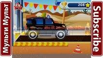 Aplicación coche coches sueño para juego niño Policía Fory juego como una historieta sobre un máquina de reparación de automóviles