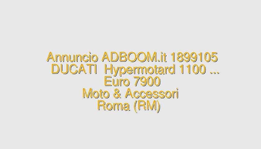 DUCATI  Hypermotard 1100 …