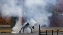 Outbreaks of violence in Venezuela as voters trickle to the polls to elect a 'super assembly.'