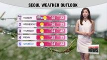 Rain forecast nationwide on Monday