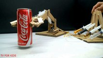 How to Make Hydraulic Powered Robotic Arm from Cardboard - Video